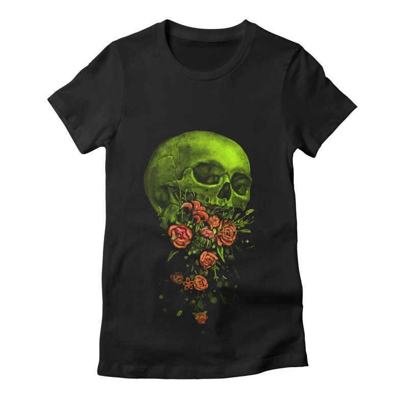 Vomit Women's Fitted T-Shirt by nicebleed