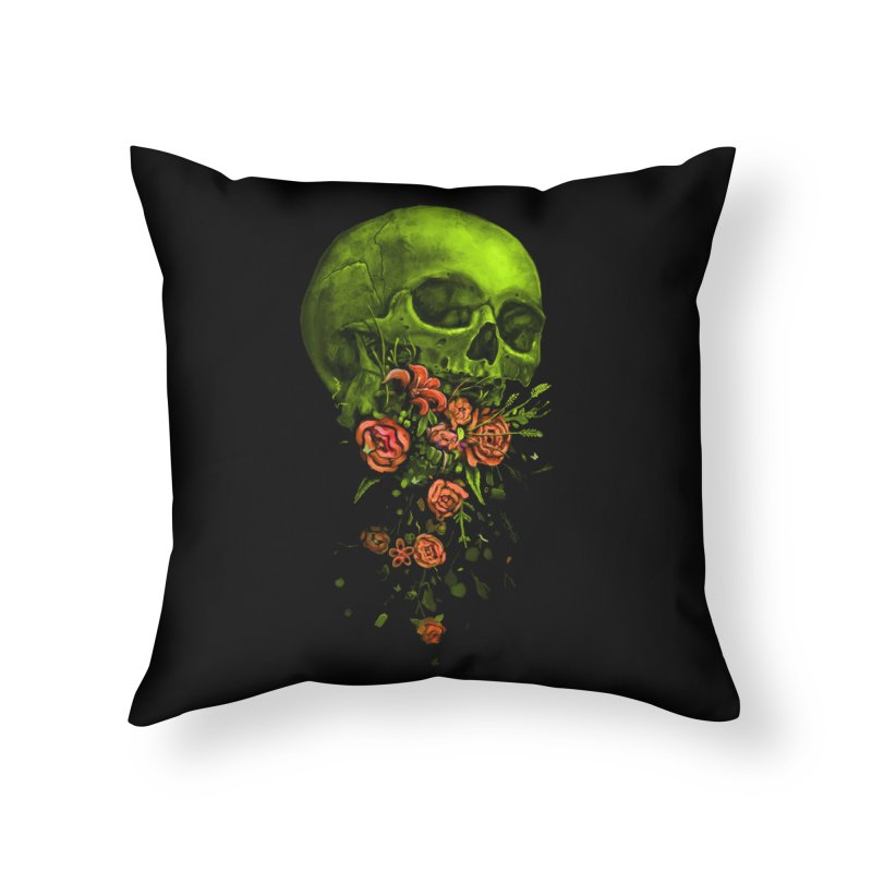 Vomit Home Throw Pillow by nicebleed