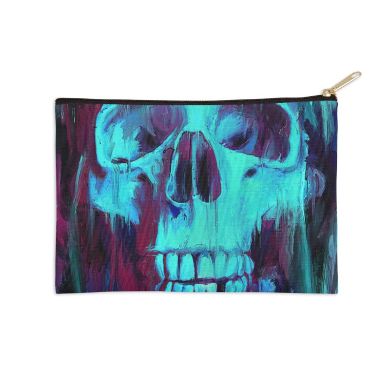 Calavera Painted Accessories Zip Pouch by nicebleed