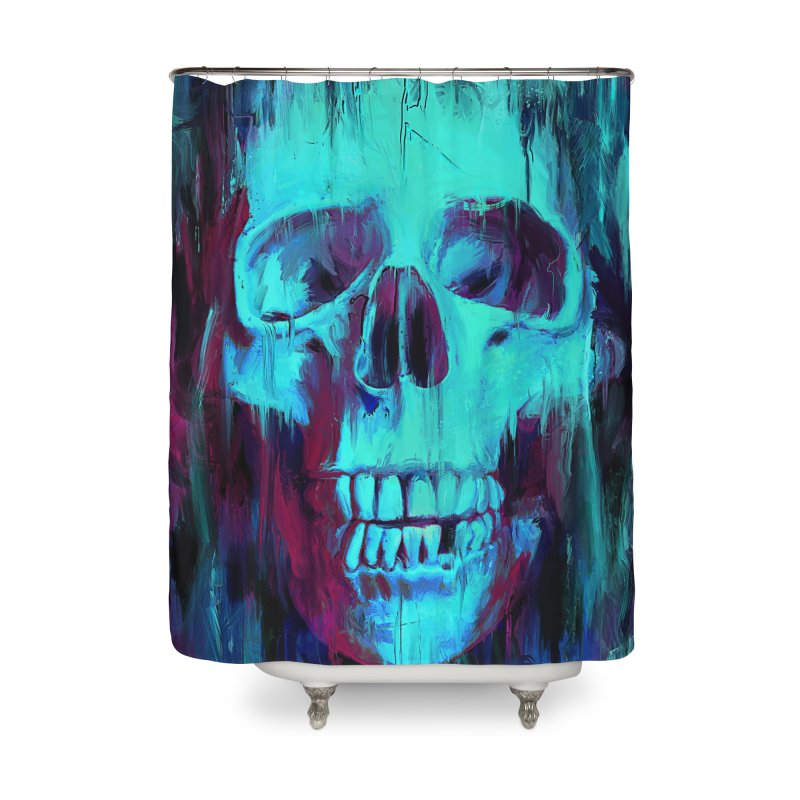 Calavera Painted Home Shower Curtain by nicebleed