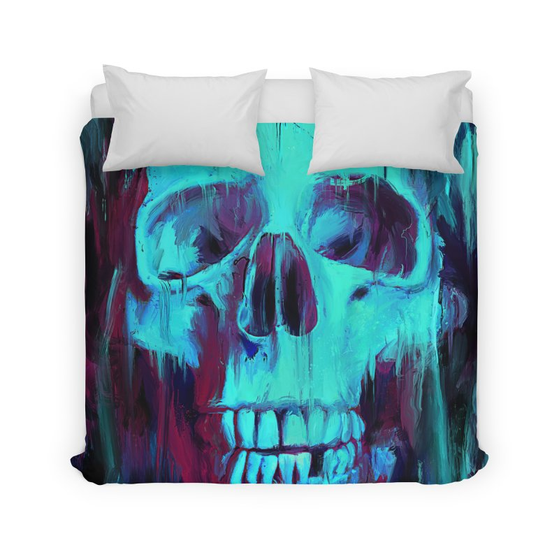 Calavera Painted Home Duvet by nicebleed