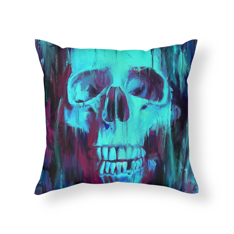 Calavera Painted Home Throw Pillow by nicebleed