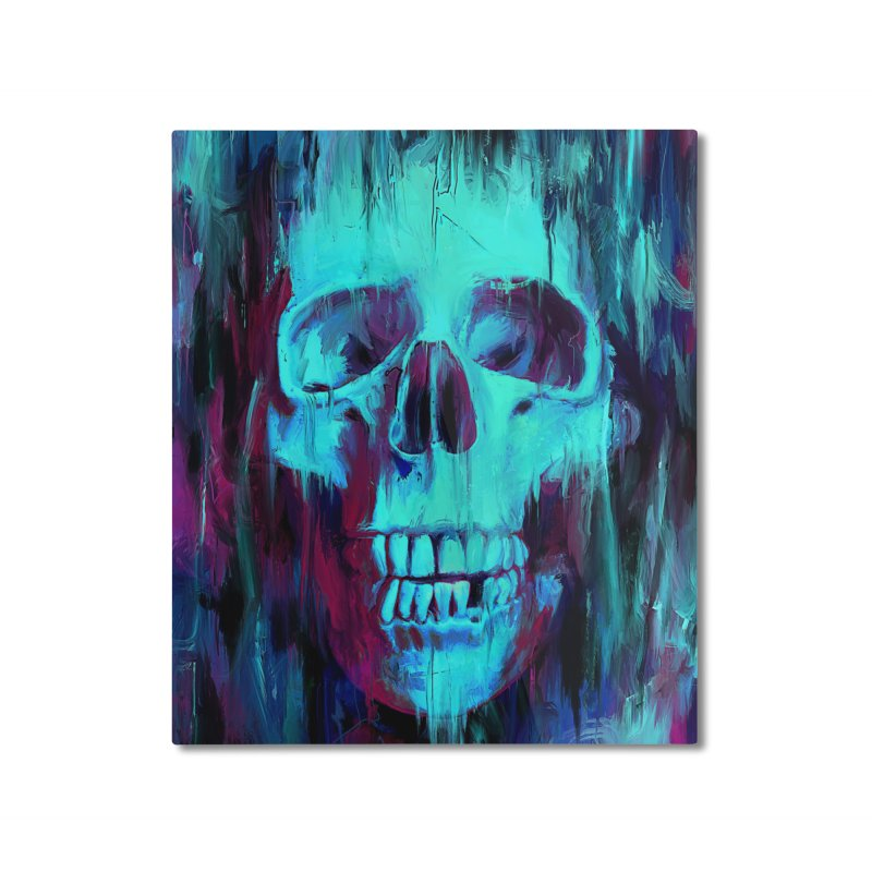 Calavera Painted Home Mounted Aluminum Print by nicebleed