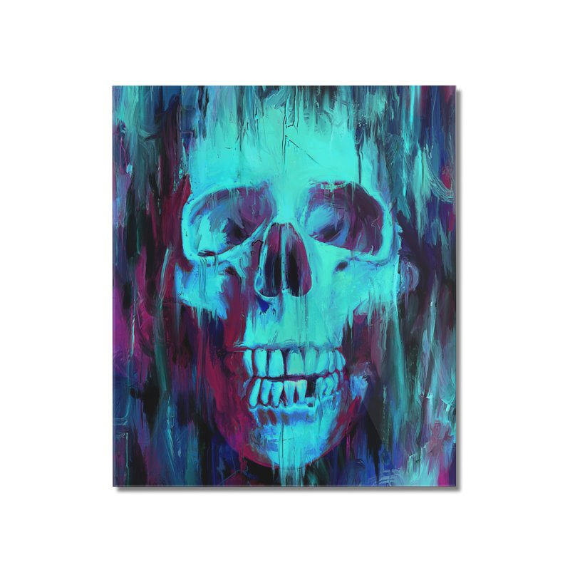 Calavera Painted Home Mounted Acrylic Print by nicebleed