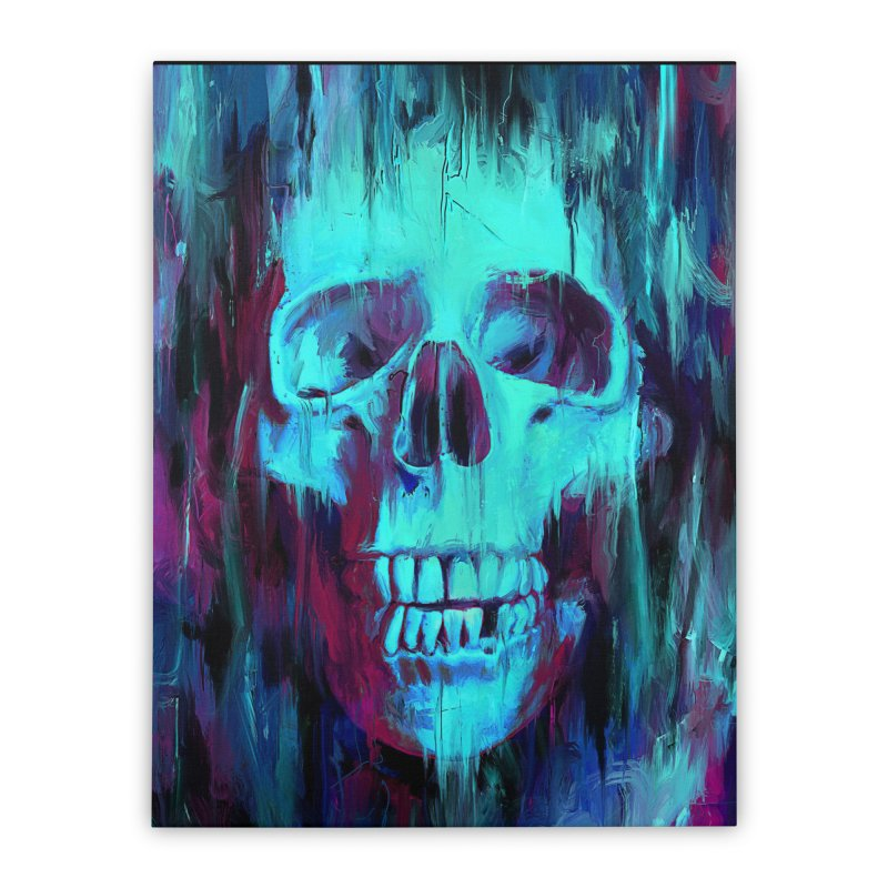 Calavera Painted Home Stretched Canvas by nicebleed