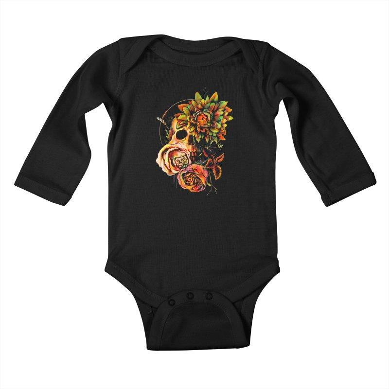 Life and Death Kids Baby Longsleeve Bodysuit by nicebleed
