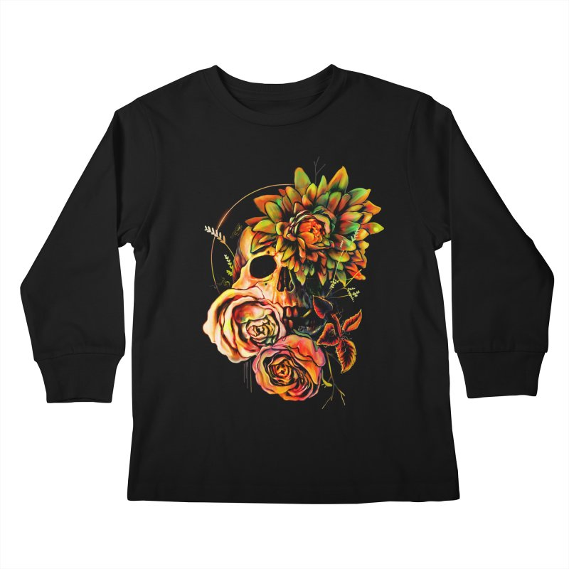 Life and Death Kids Longsleeve T-Shirt by nicebleed
