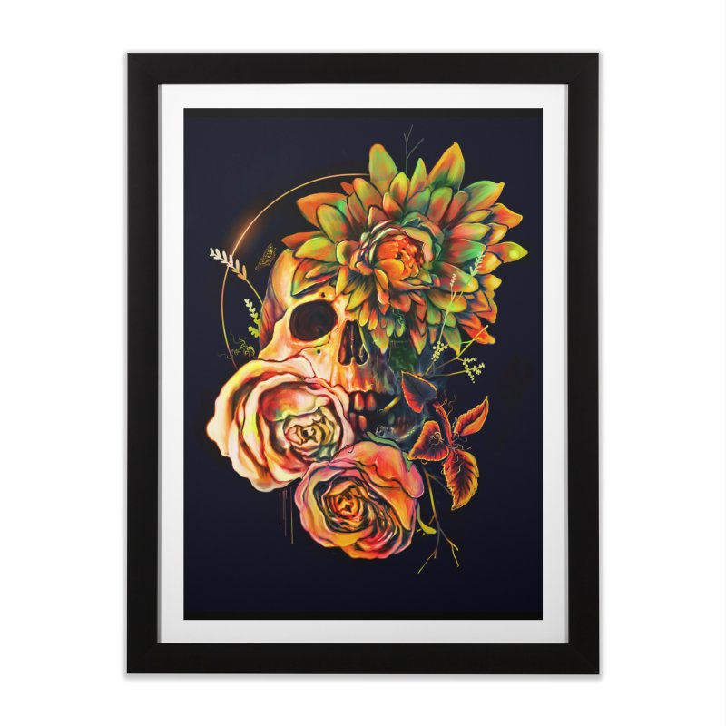 Life and Death Home Framed Fine Art Print by nicebleed