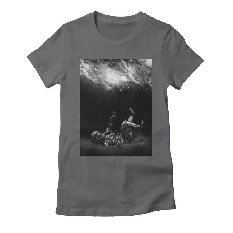 Far-off Women's Fitted T-Shirt by nicebleed