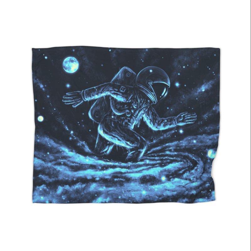 Caught in a Blackhole Home Fleece Blanket by nicebleed