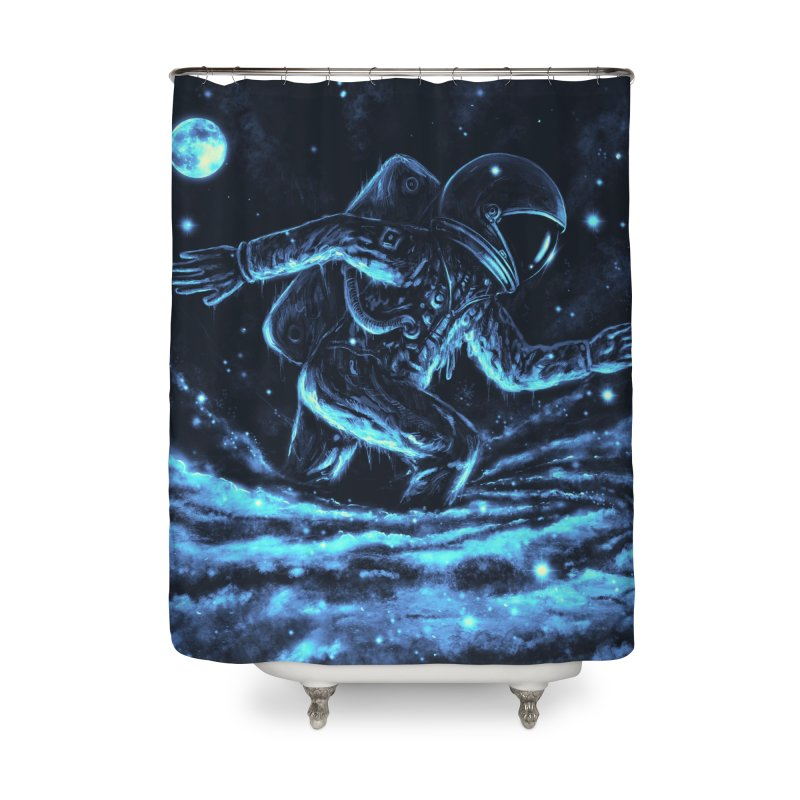 Caught in a Blackhole Home Shower Curtain by nicebleed