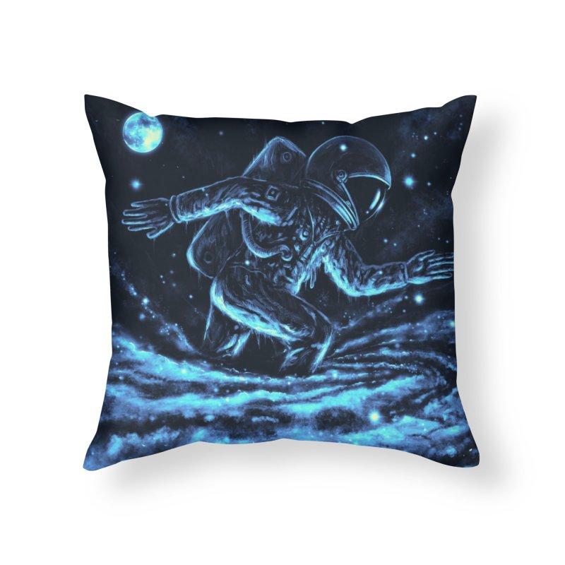 Caught in a Blackhole Home Throw Pillow by nicebleed