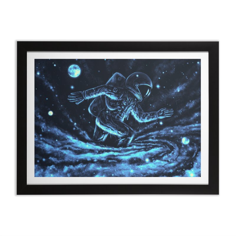 Caught in a Blackhole Home Framed Fine Art Print by nicebleed