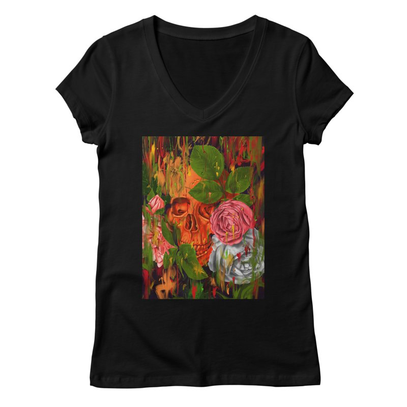 Colors of Death Women's V-Neck by nicebleed