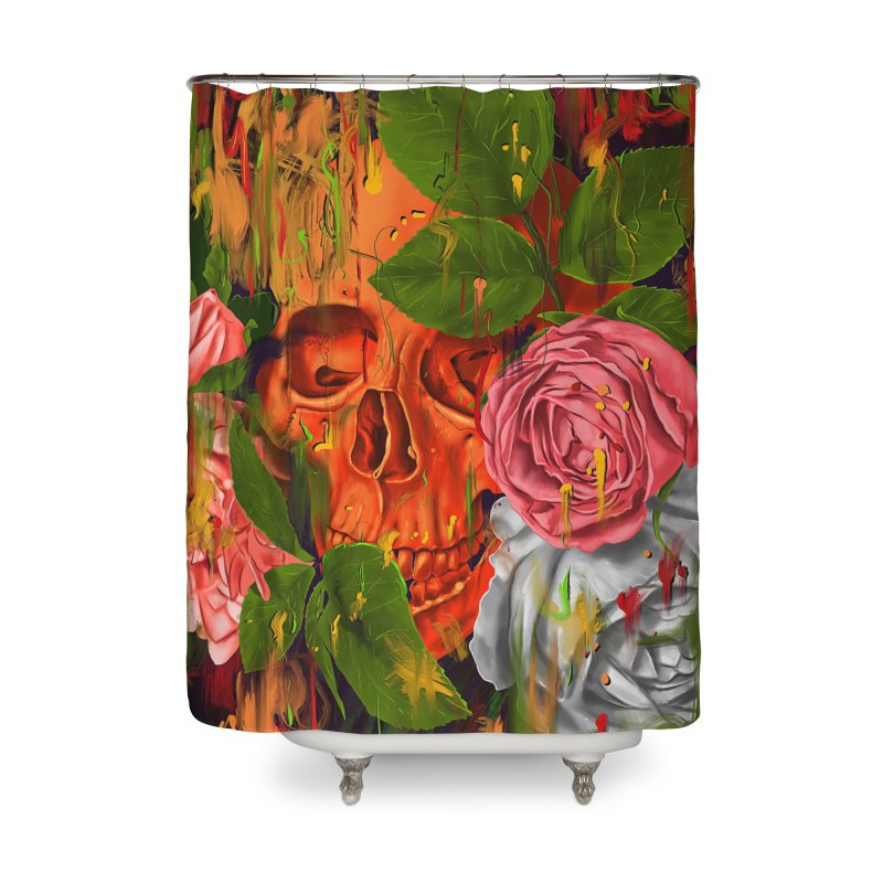 Colors of Death Home Shower Curtain by nicebleed