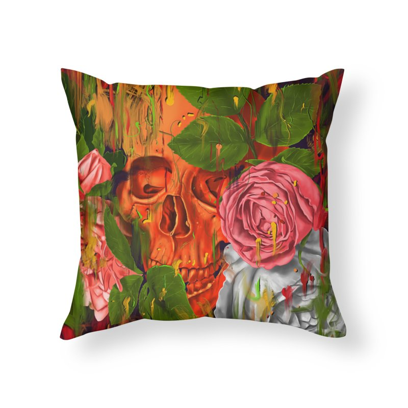 Colors of Death Home Throw Pillow by nicebleed