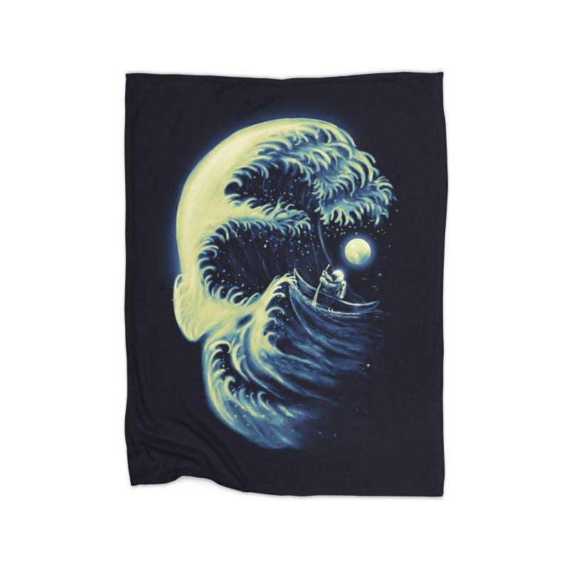 Death Wave Home Fleece Blanket by nicebleed