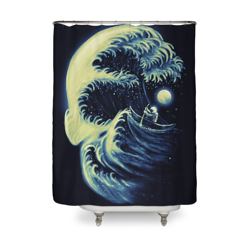 Death Wave Home Shower Curtain by nicebleed