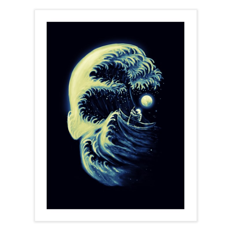 Death Wave Home Fine Art Print by nicebleed