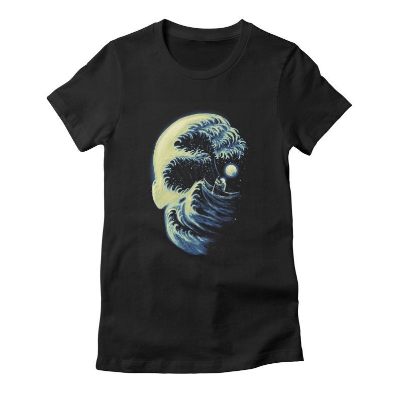 Death Wave Women's Fitted T-Shirt by nicebleed