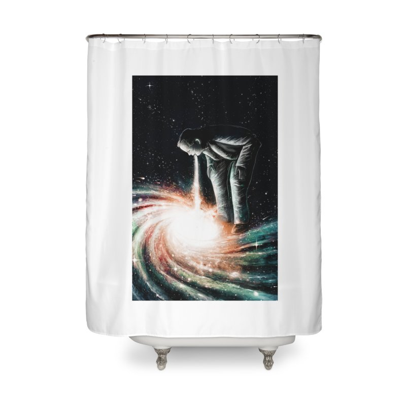 Cosmic Vomit Home Shower Curtain by nicebleed