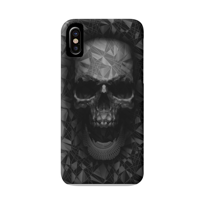 Geometric Skull Accessories Phone Case by nicebleed