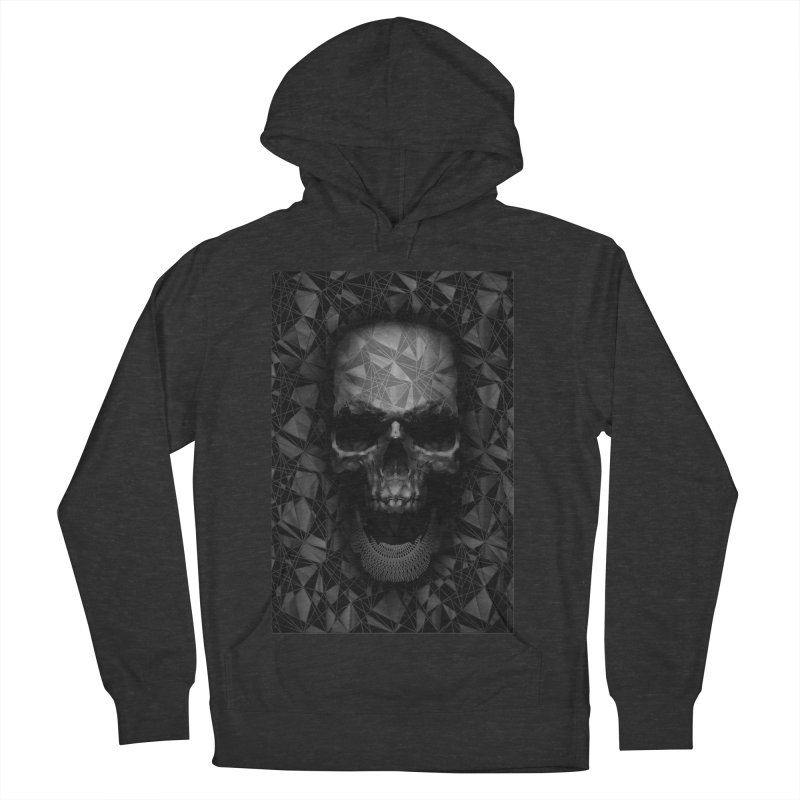 Geometric Skull Women's French Terry Pullover Hoody by nicebleed