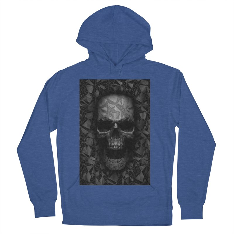 Geometric Skull Men's French Terry Pullover Hoody by nicebleed