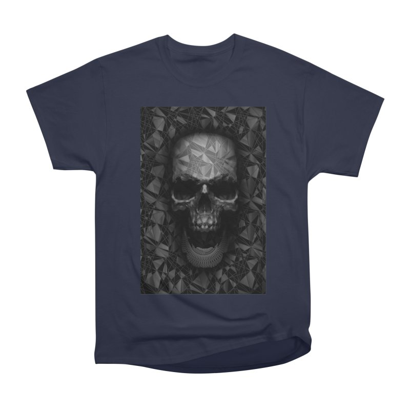 Geometric Skull Women's Heavyweight Unisex T-Shirt by nicebleed
