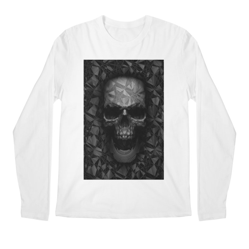 Geometric Skull Men's Regular Longsleeve T-Shirt by nicebleed
