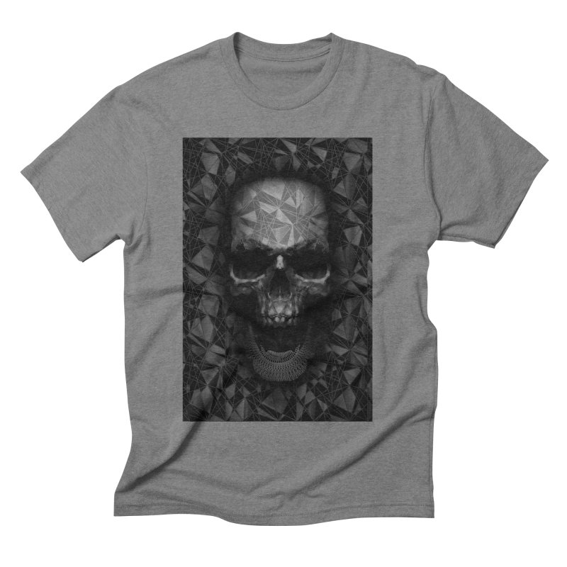 Geometric Skull Men's Triblend T-Shirt by nicebleed