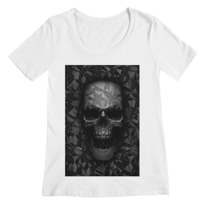 Geometric Skull Women's Regular Scoop Neck by nicebleed