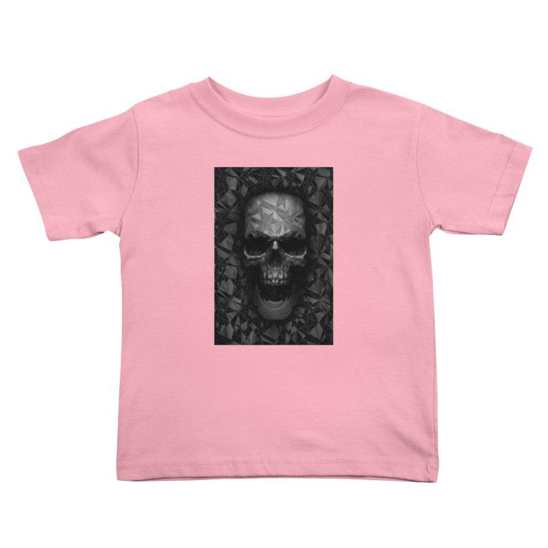 Geometric Skull Kids Toddler T-Shirt by nicebleed