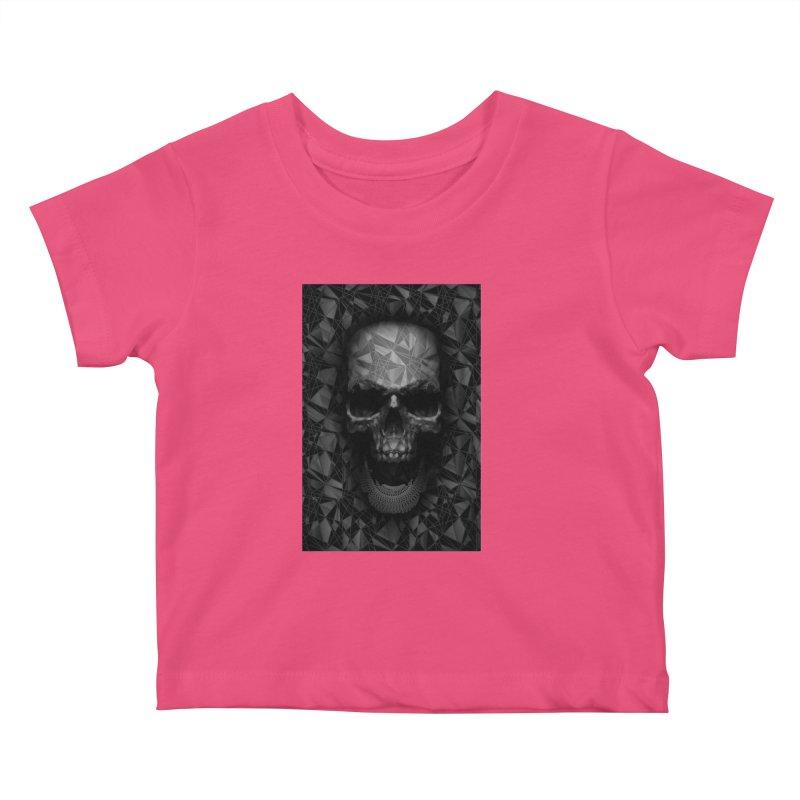 Geometric Skull Kids Baby T-Shirt by nicebleed