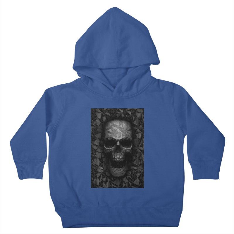 Geometric Skull Kids Toddler Pullover Hoody by nicebleed