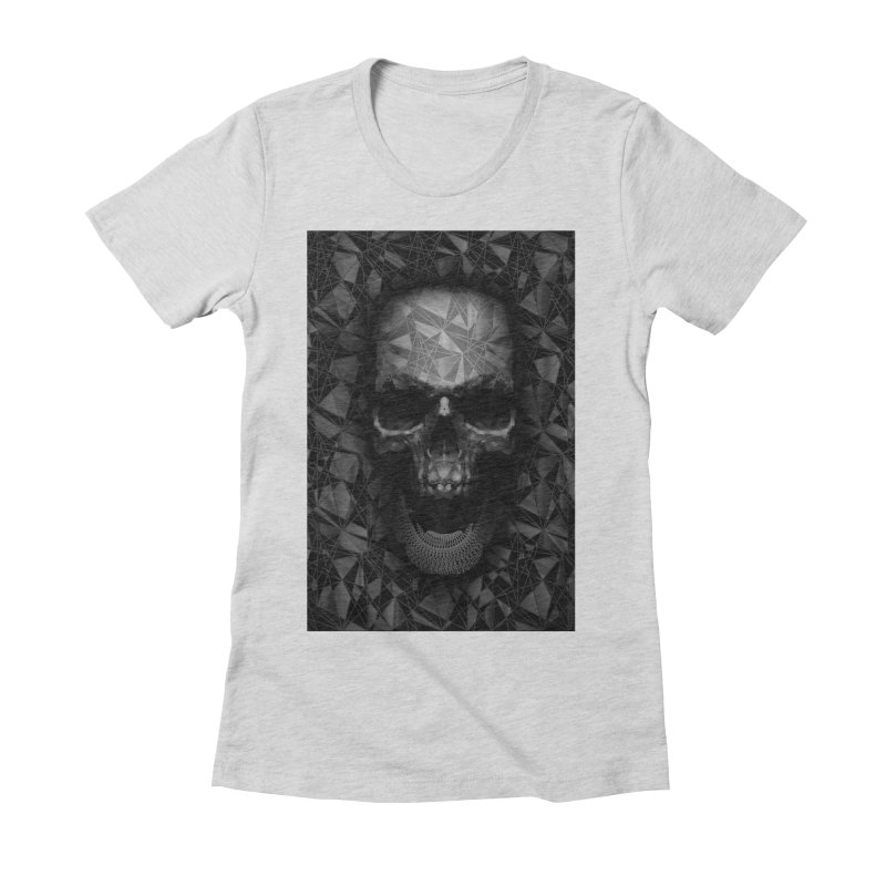 Geometric Skull Women's Fitted T-Shirt by nicebleed