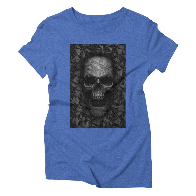 Geometric Skull Women's Triblend T-Shirt by nicebleed