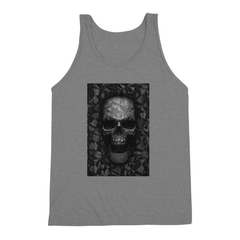 Geometric Skull Men's Triblend Tank by nicebleed