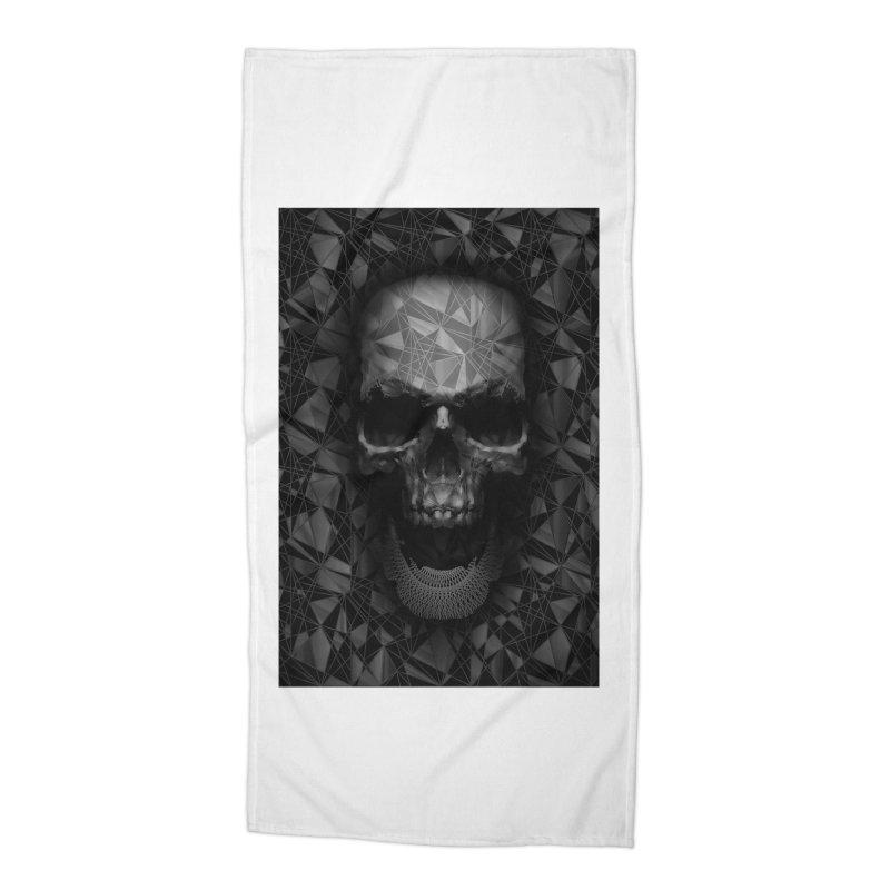 Geometric Skull Accessories Beach Towel by nicebleed