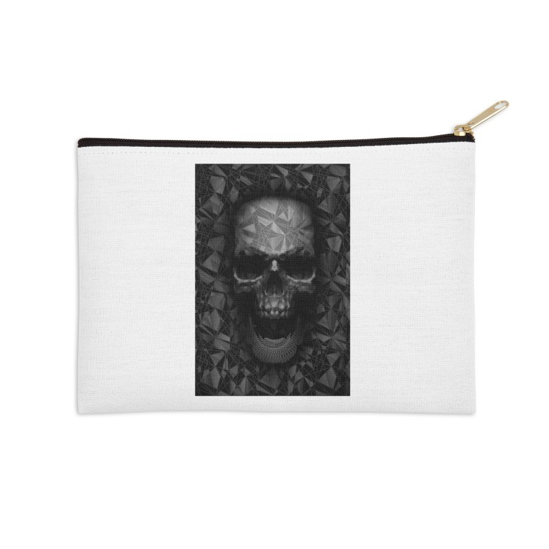 Geometric Skull Accessories Zip Pouch by nicebleed