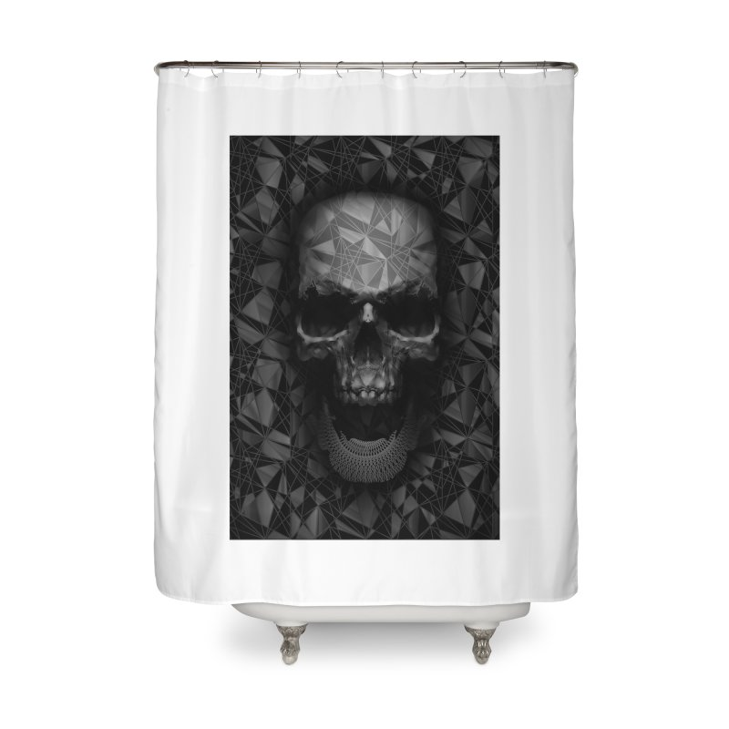 Geometric Skull Home Shower Curtain by nicebleed