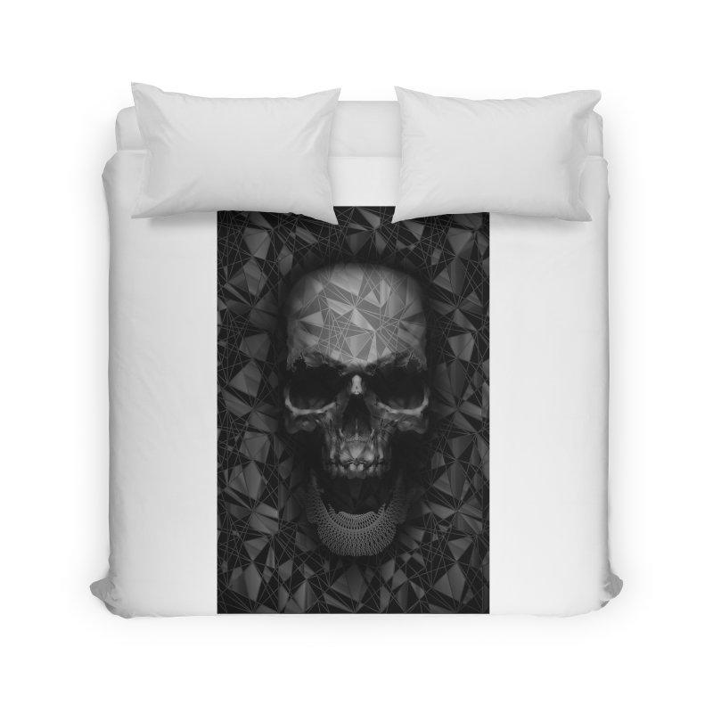 Geometric Skull Home Duvet by nicebleed