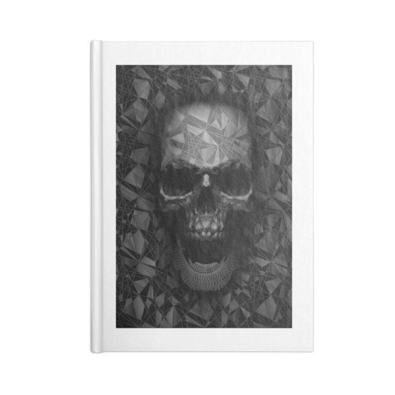 Geometric Skull Accessories Notebook by nicebleed
