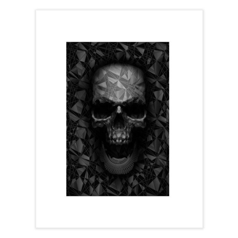 Geometric Skull Home Fine Art Print by nicebleed