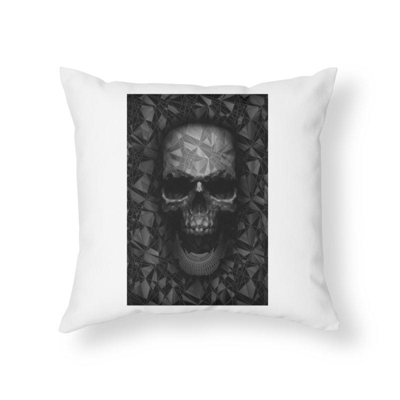 Geometric Skull Home Throw Pillow by nicebleed