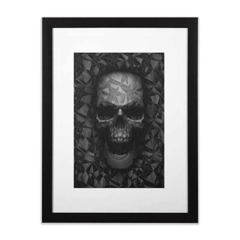 Geometric Skull Home Framed Fine Art Print by nicebleed