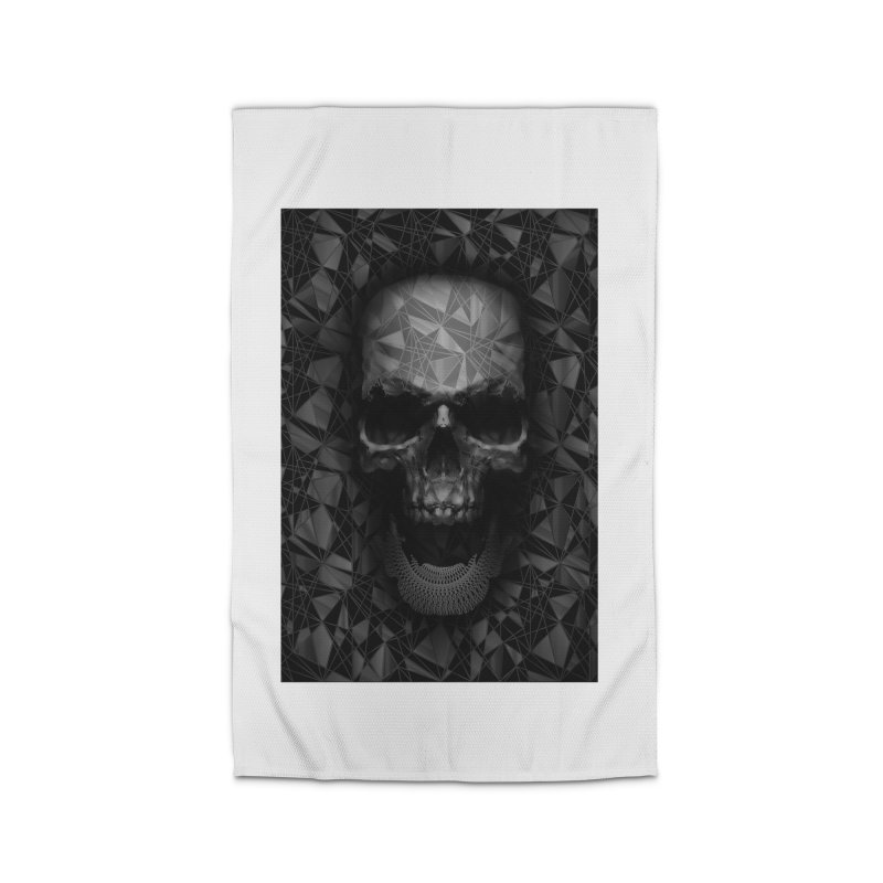 Geometric Skull Home Rug by nicebleed