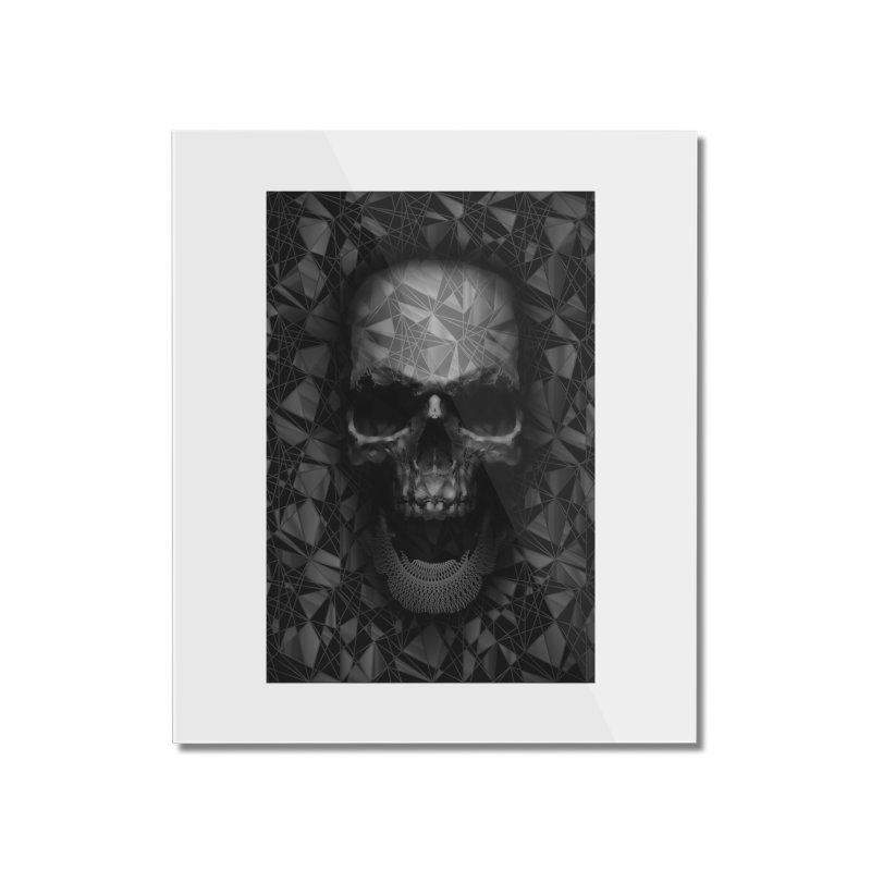 Geometric Skull Home Mounted Acrylic Print by nicebleed