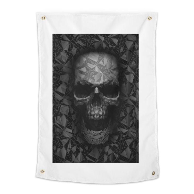 Geometric Skull Home Tapestry by nicebleed