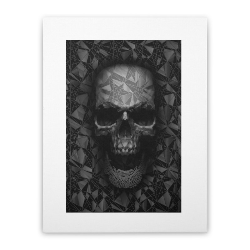 Geometric Skull Home Stretched Canvas by nicebleed